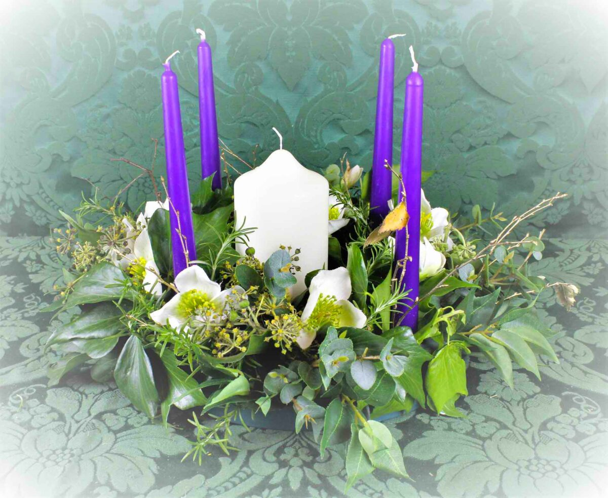 Christmas Rose Advent Wreath