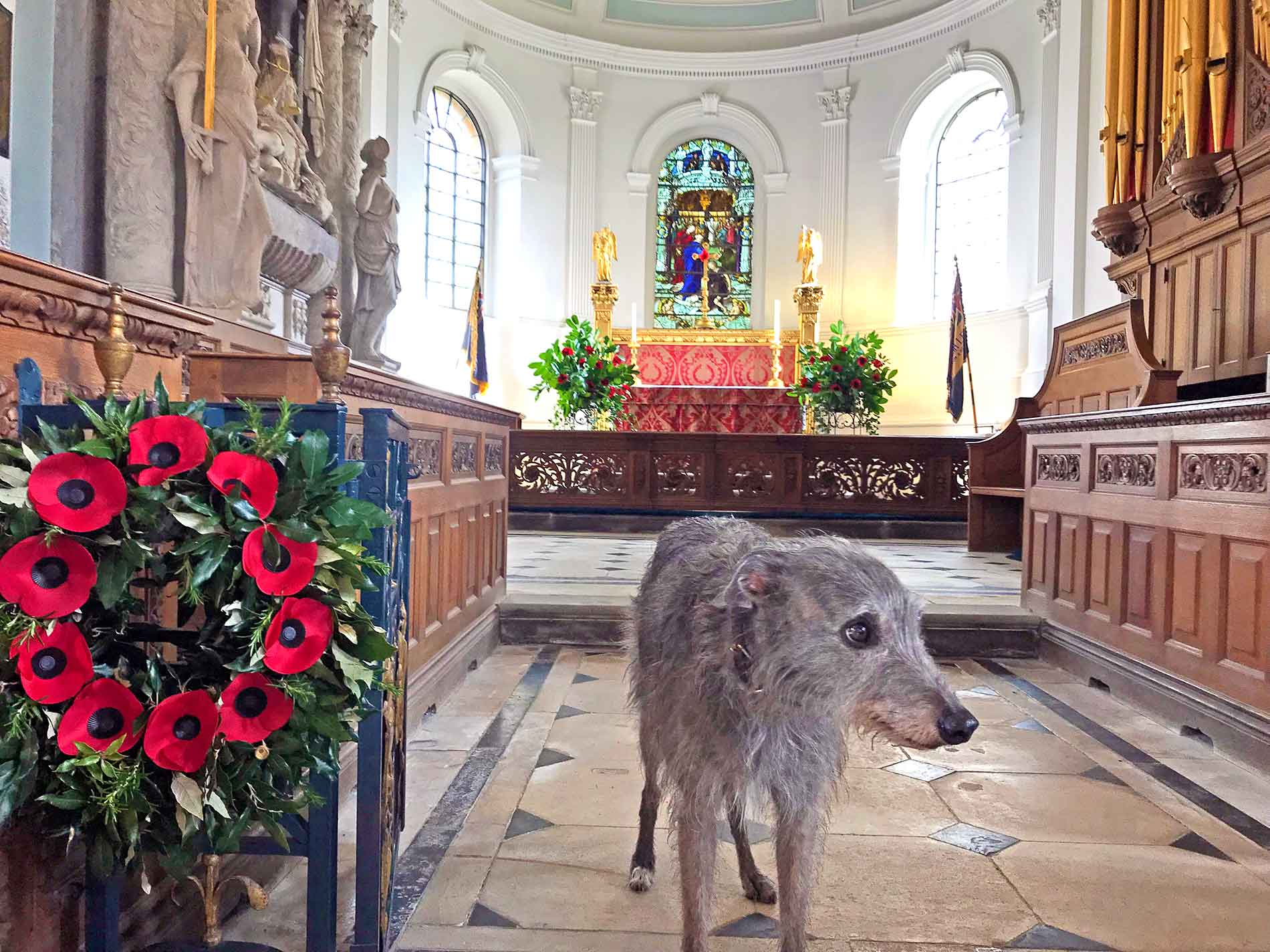 "Ellie Having Inspected ""Her"" Poppies and Wreaths at Great Badminton"